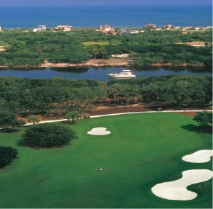 GoToby.com: 18th Green overlooking the Intracoastal Waterway and Atlantic Ocean